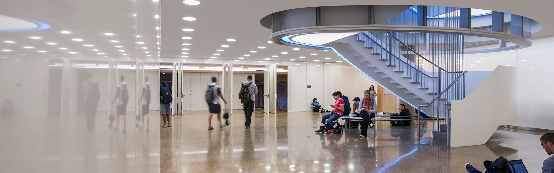 Genome Science Building lecture hall lobby