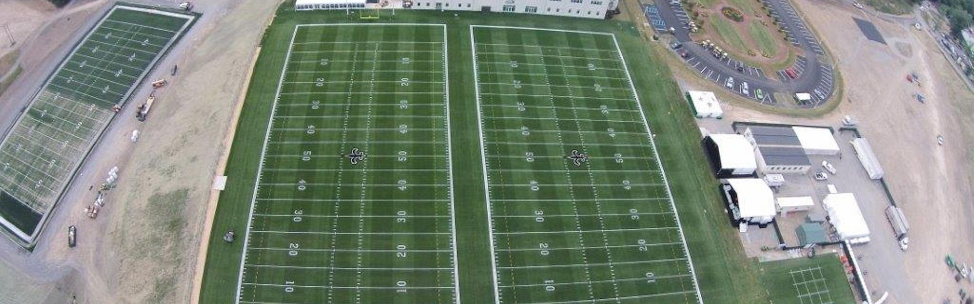 New Orleans Saints practice football fields at AdvoCare Sports Performance Center