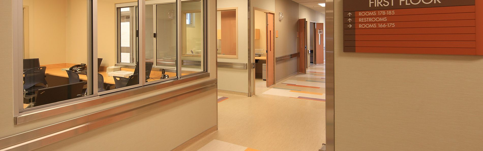 Entry/admissions area for assessment, referral consultation and medically supervised observation on the first floor