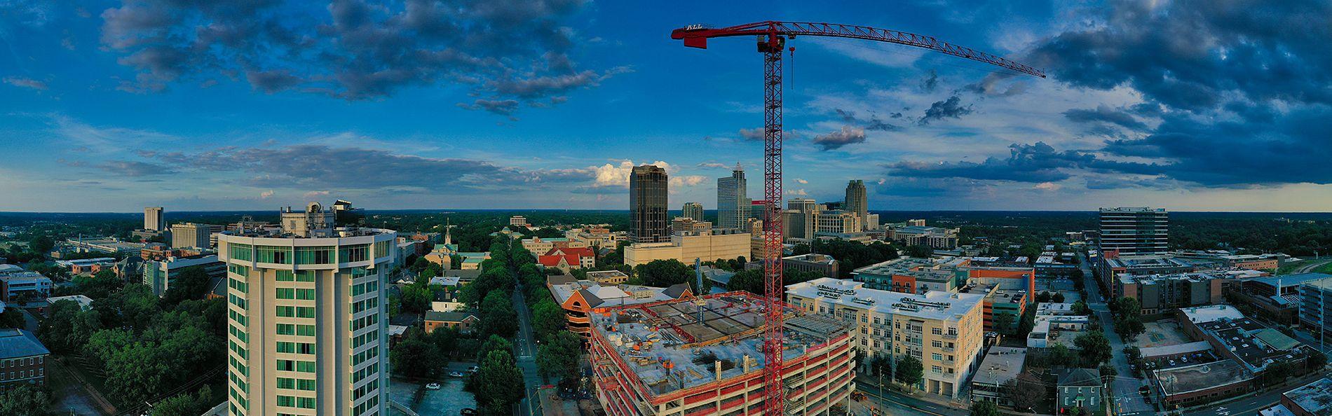 301 Hillsborough Office Building Drone Photo under construction - June 2020