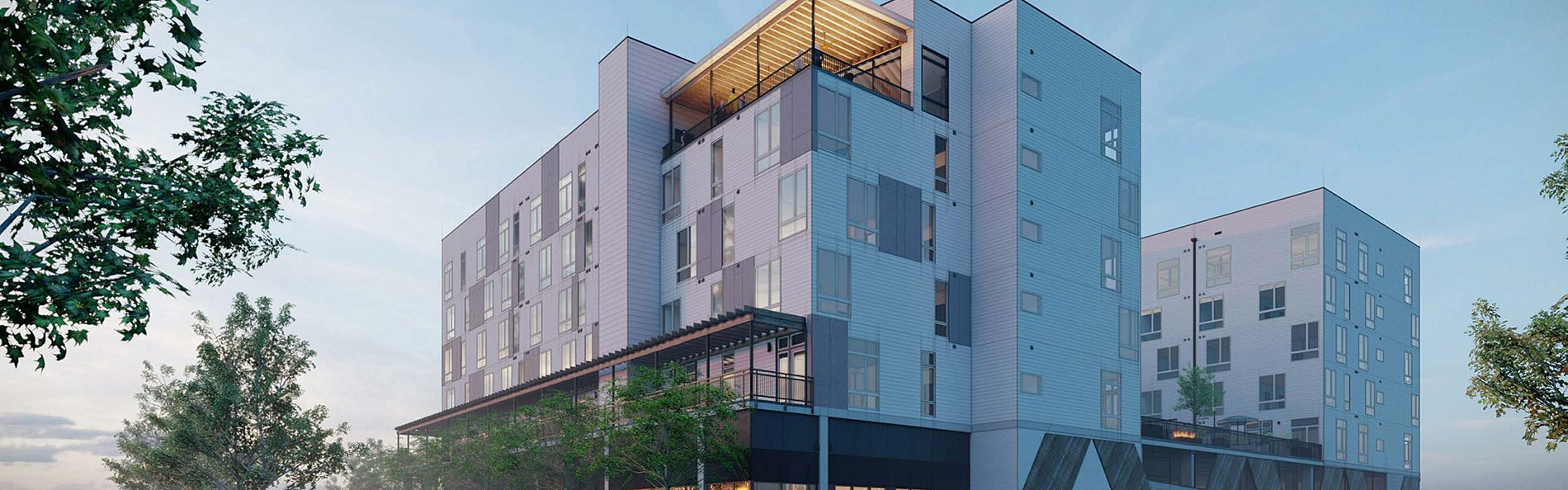 Rigsbee Apartments Exterior Rendering