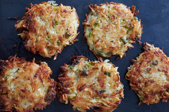 Latkes from Gefilteria, photo by Lauren Volo, 2019