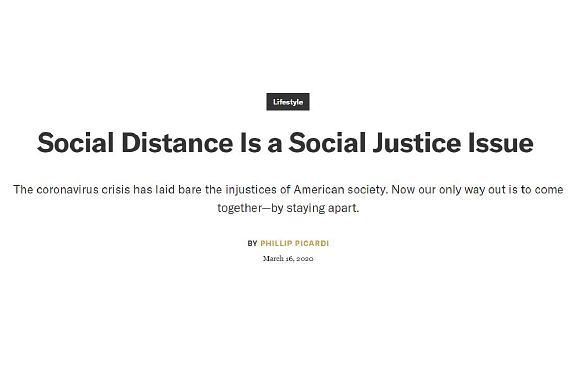 GQ: Social Distance is a social justice issue