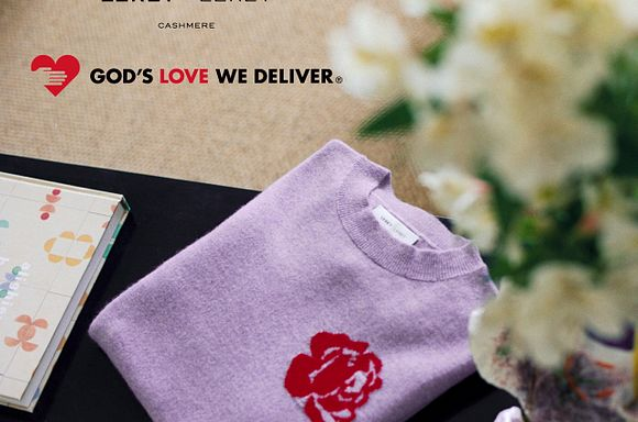 Leret Leret sweater and God's Love We Deliver logo