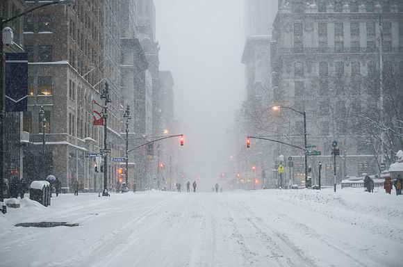 Snowy New York Street