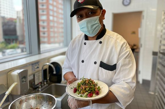 Chef Andre with Beet Salad