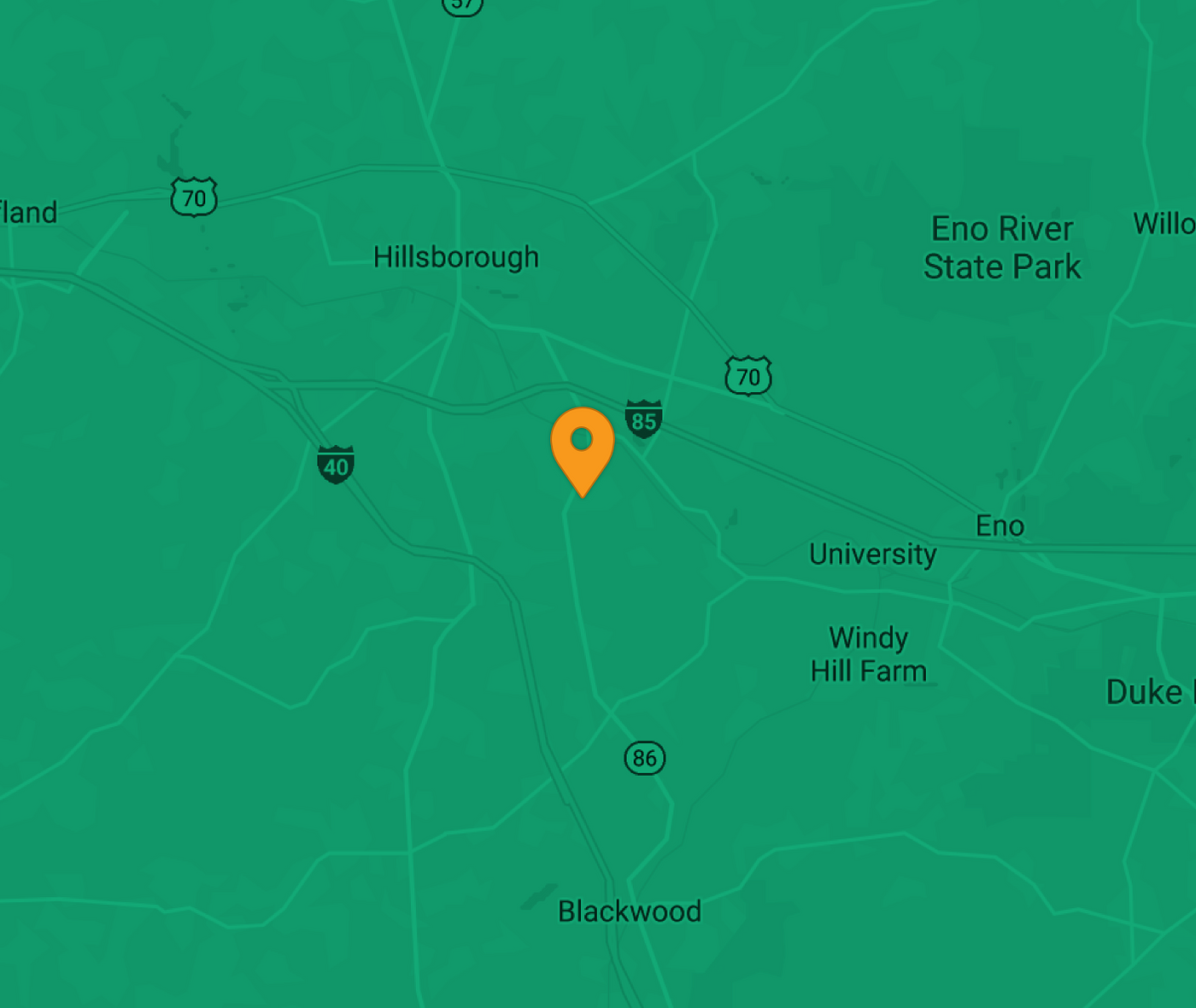 Map showing EV charging Station in Hillsborough