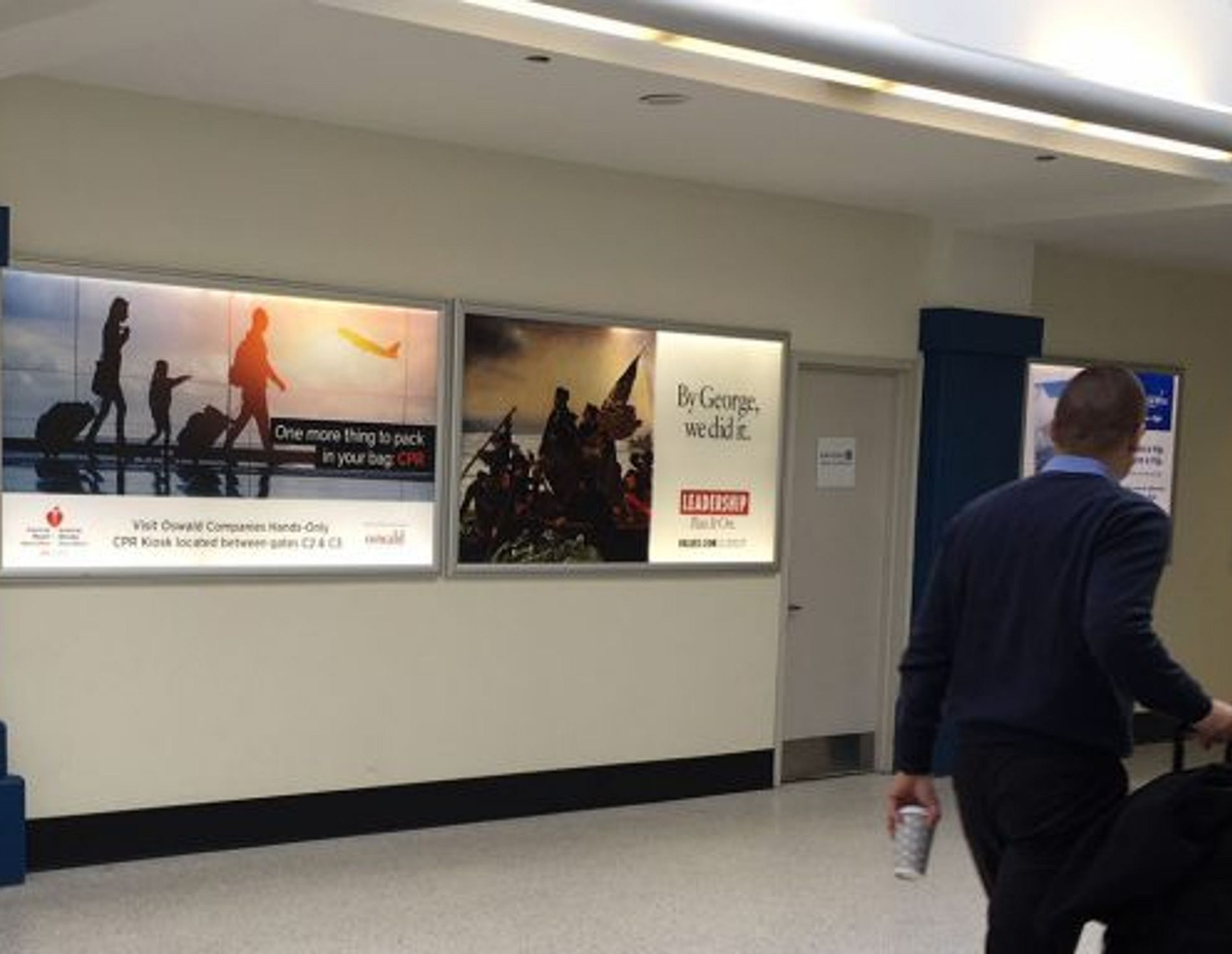 Oswald advertisement at the Cleveland airport
