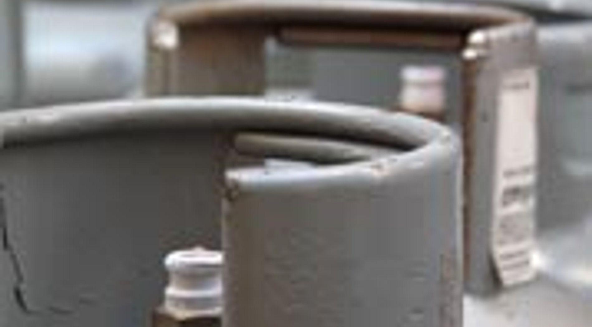 Top of a propane tank