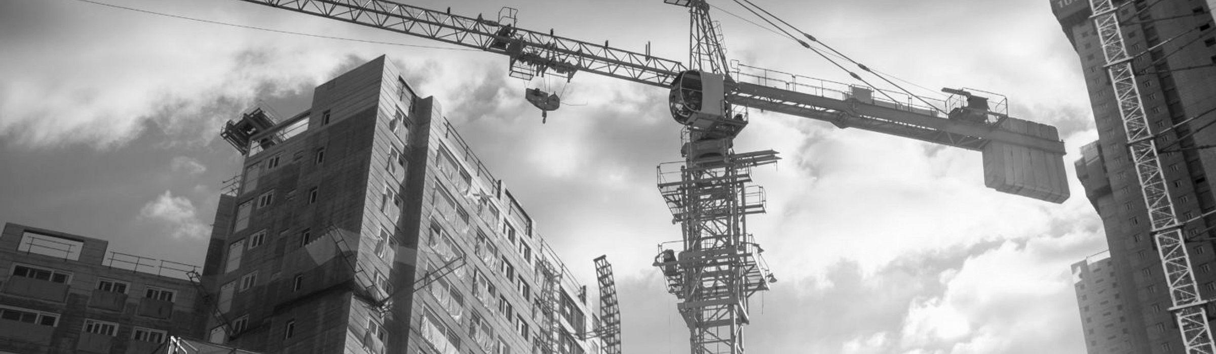 Large crane on a construction site