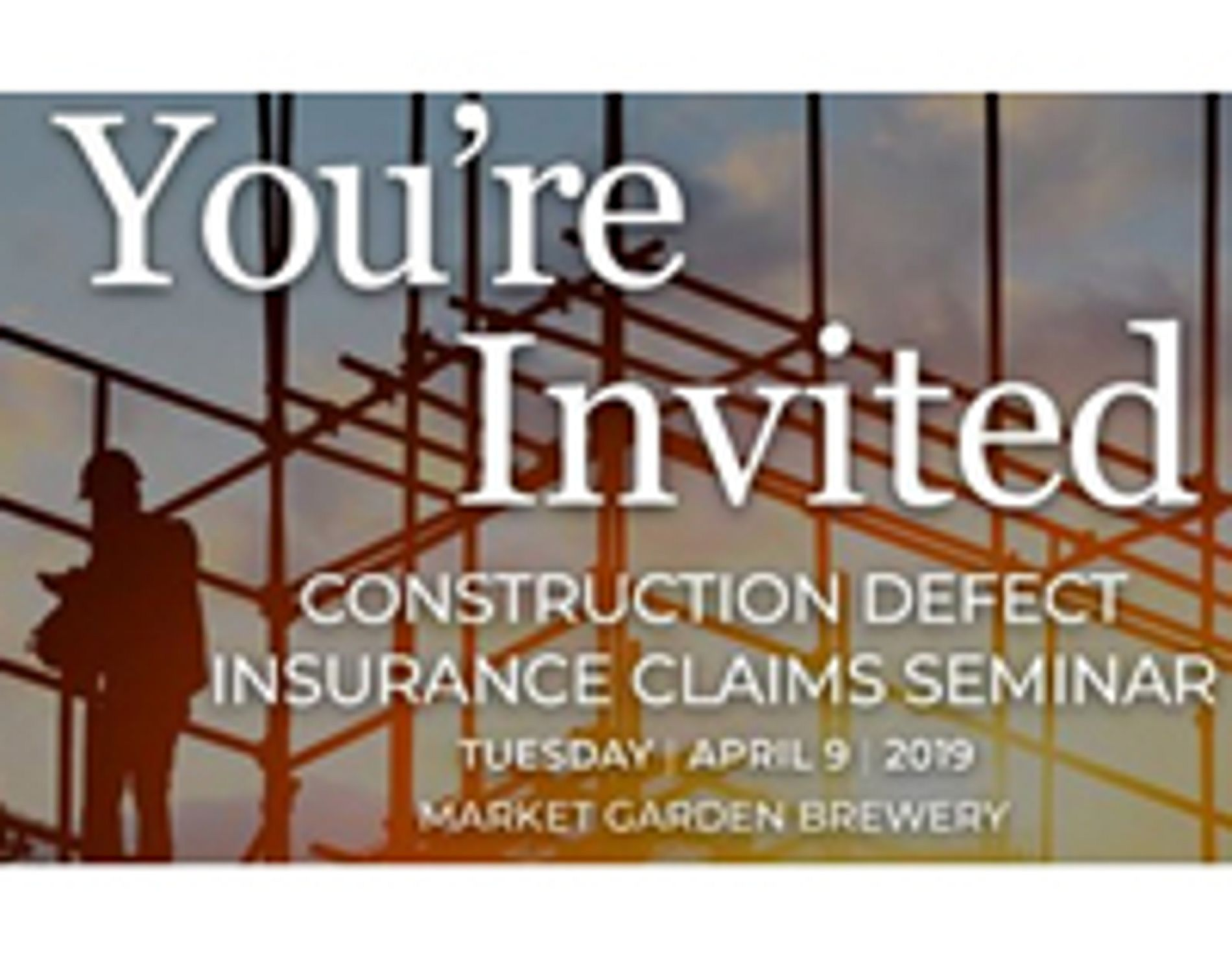 Construction Defect Insurance Claims: April 9 Seminar