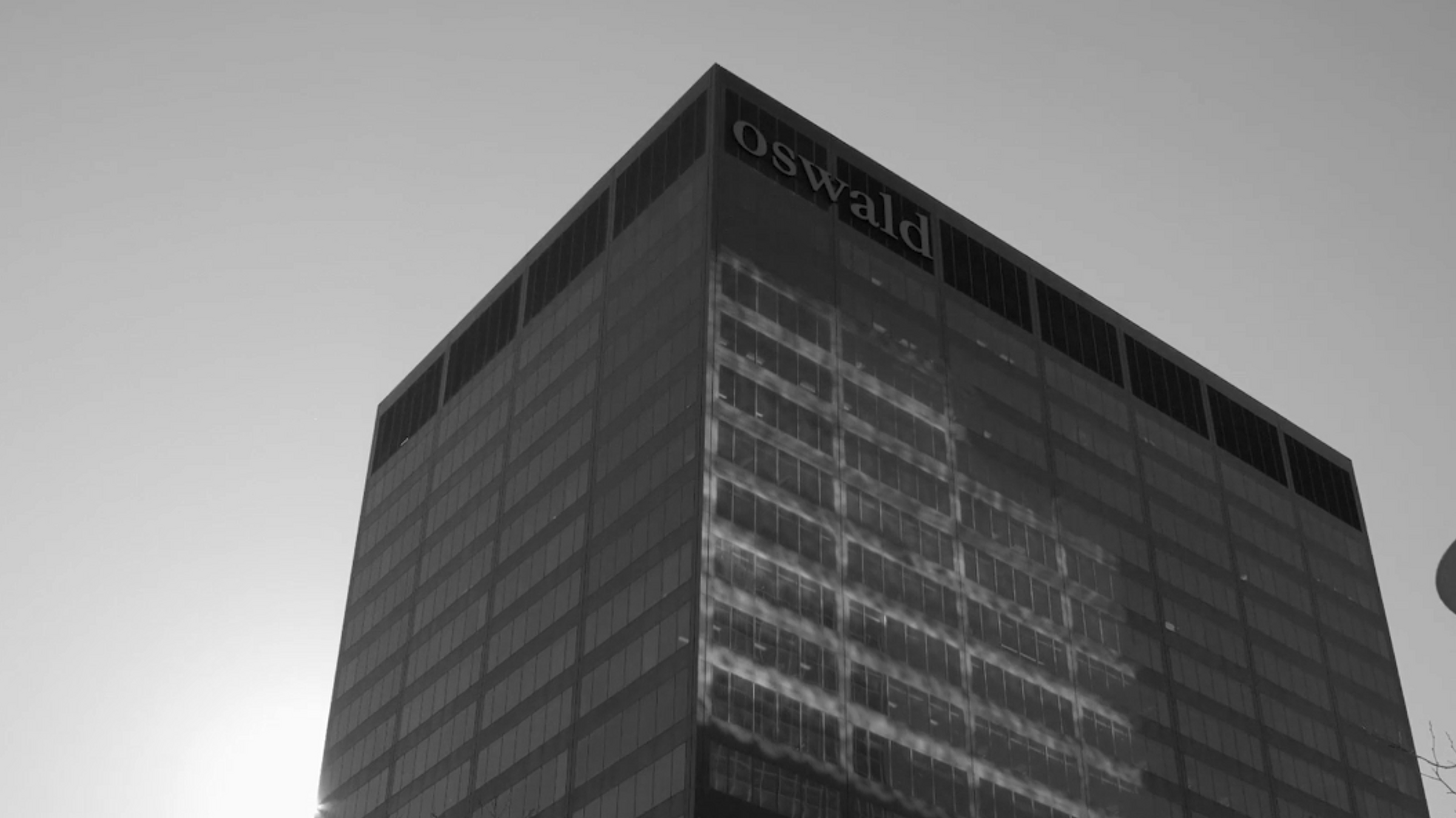Looking up at the Oswald Centre