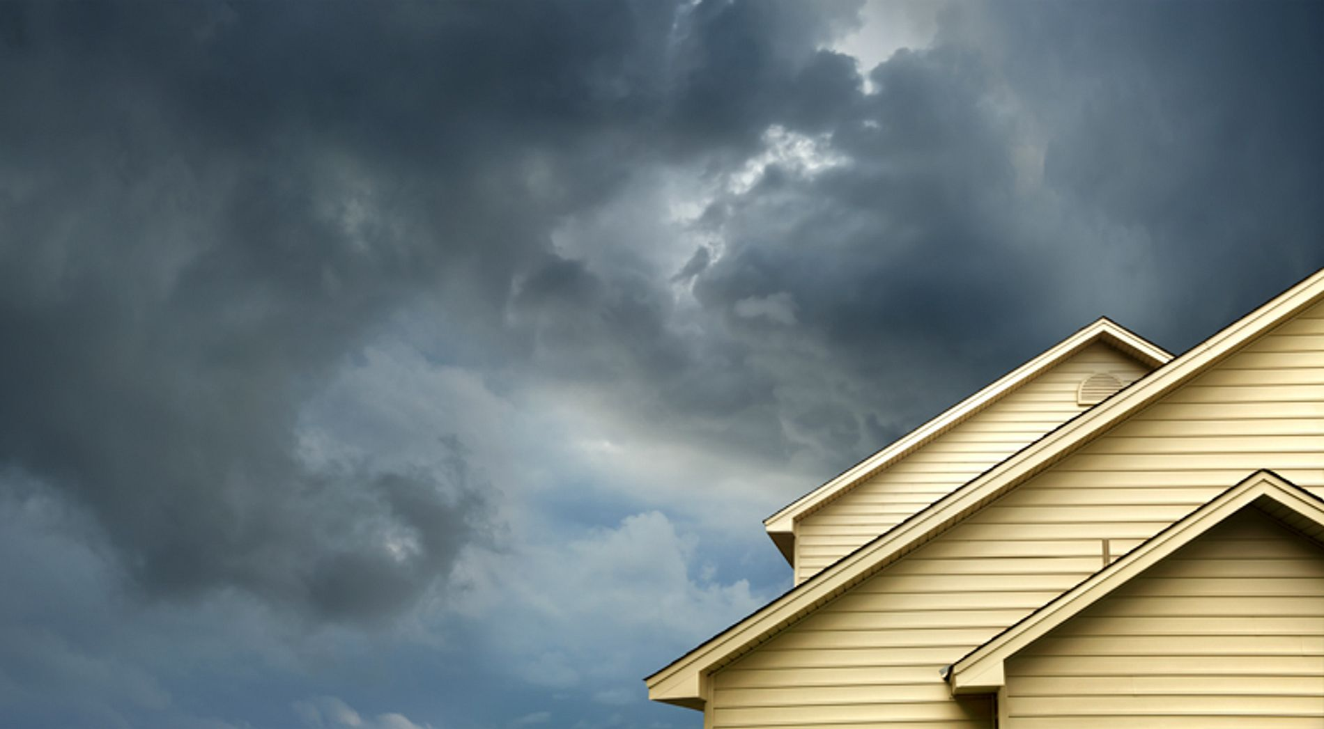 Cloudy sky over a home