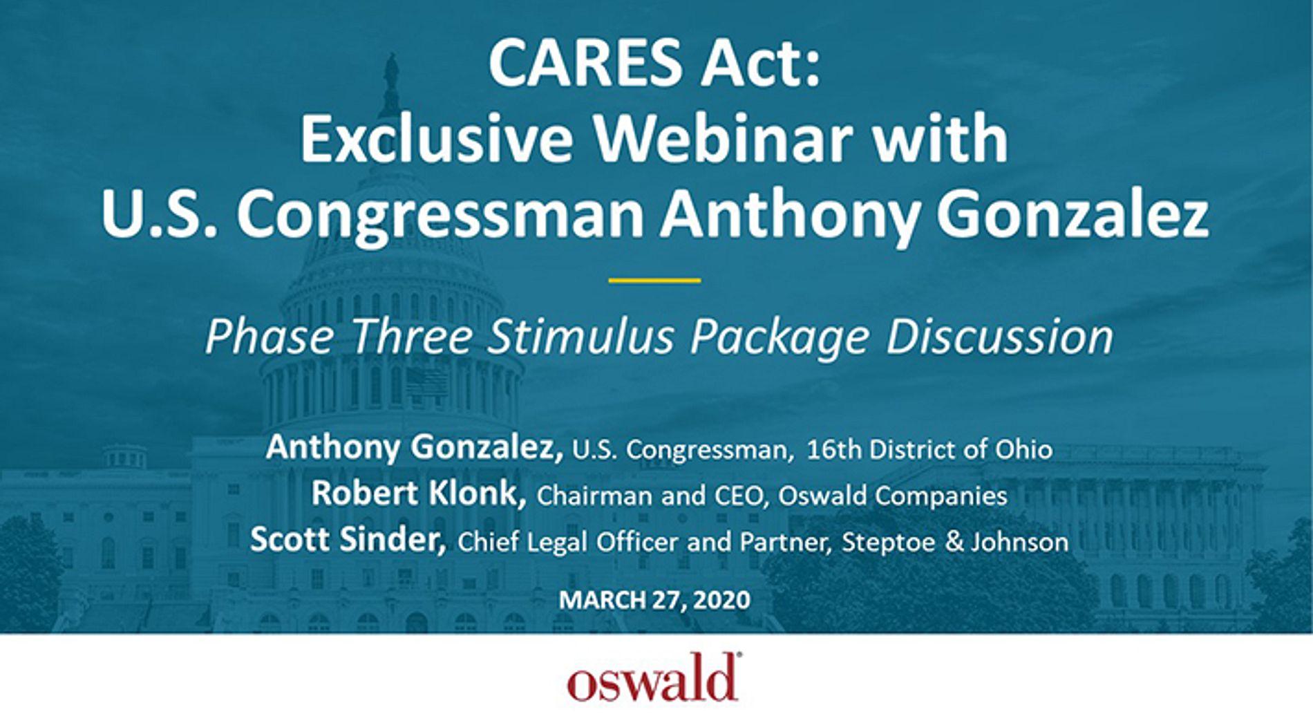 CARES Act Stimulus Phase 3 Webinar