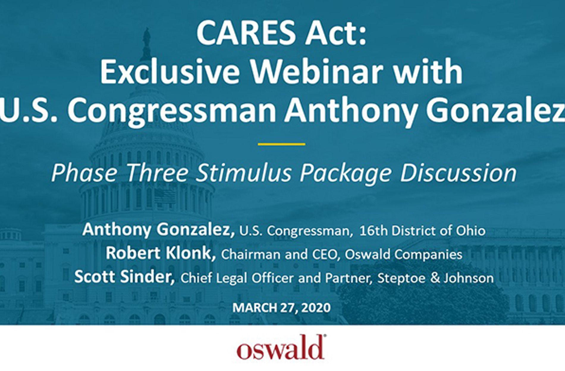 CARES Act Stimulus Phase 3
