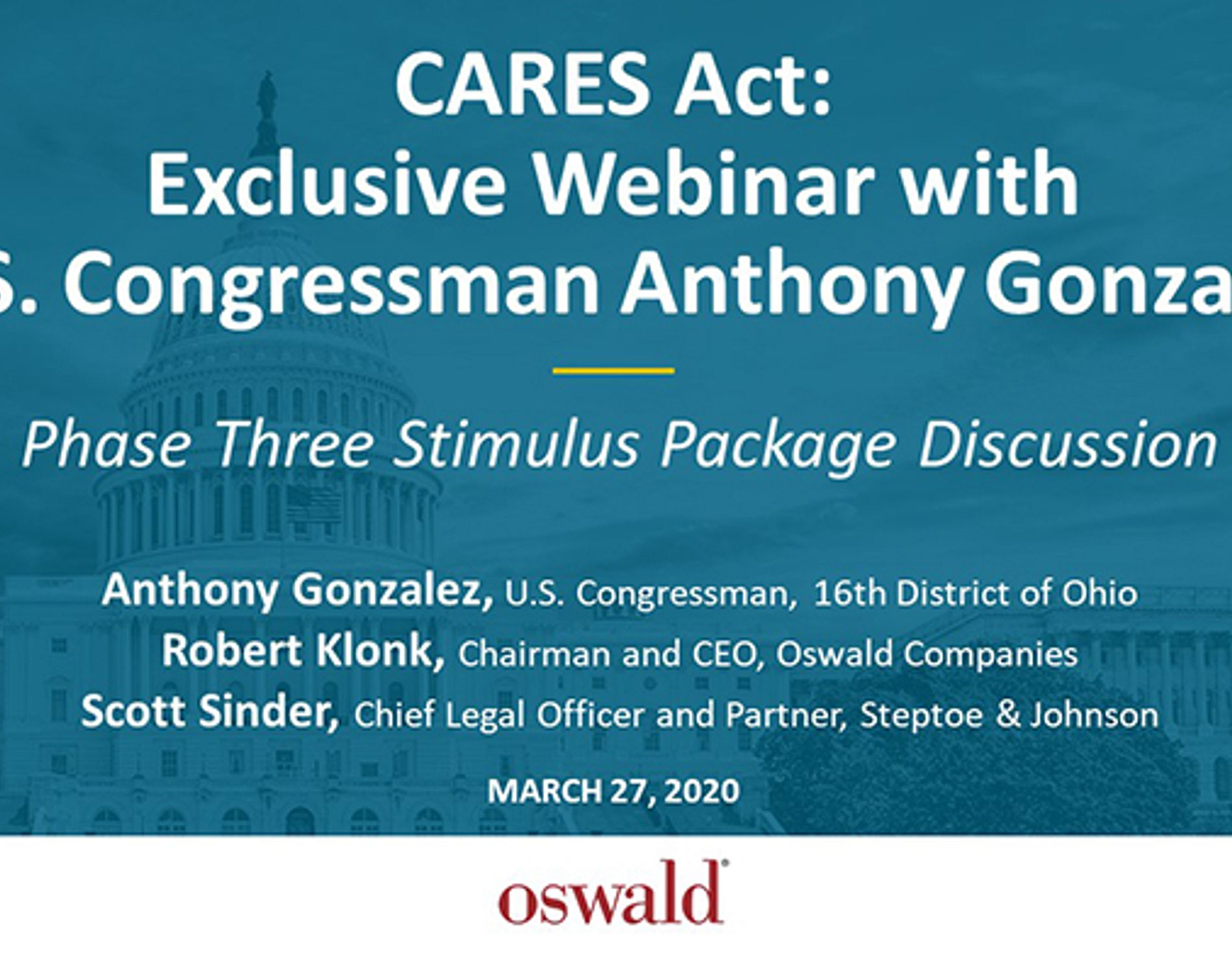 CARES Act Stimulus Phase 3 Webinar