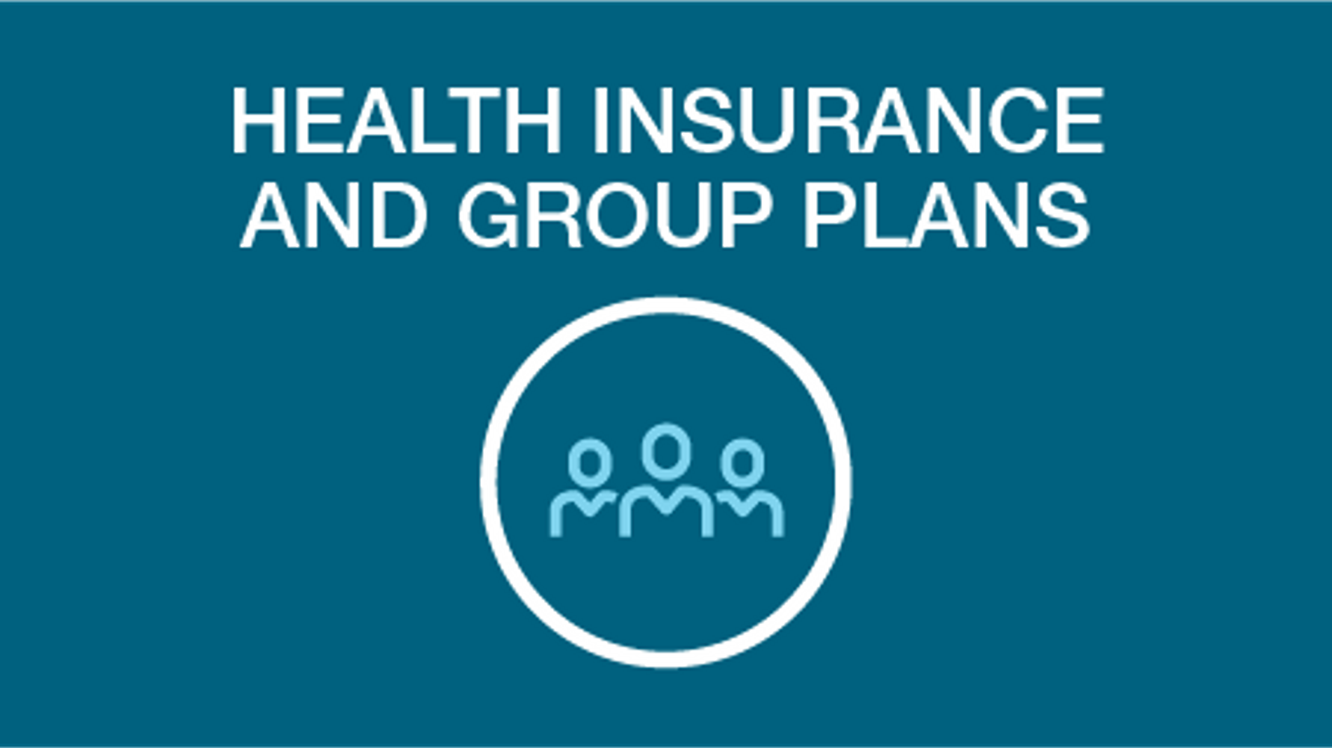 Health insurance and group plans icon