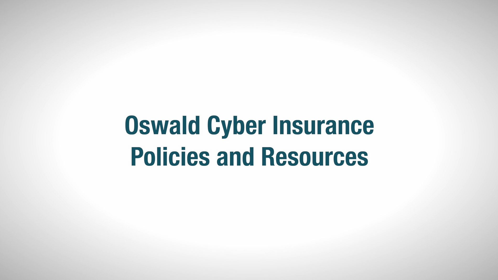 Oswald Cyber Insurance Video