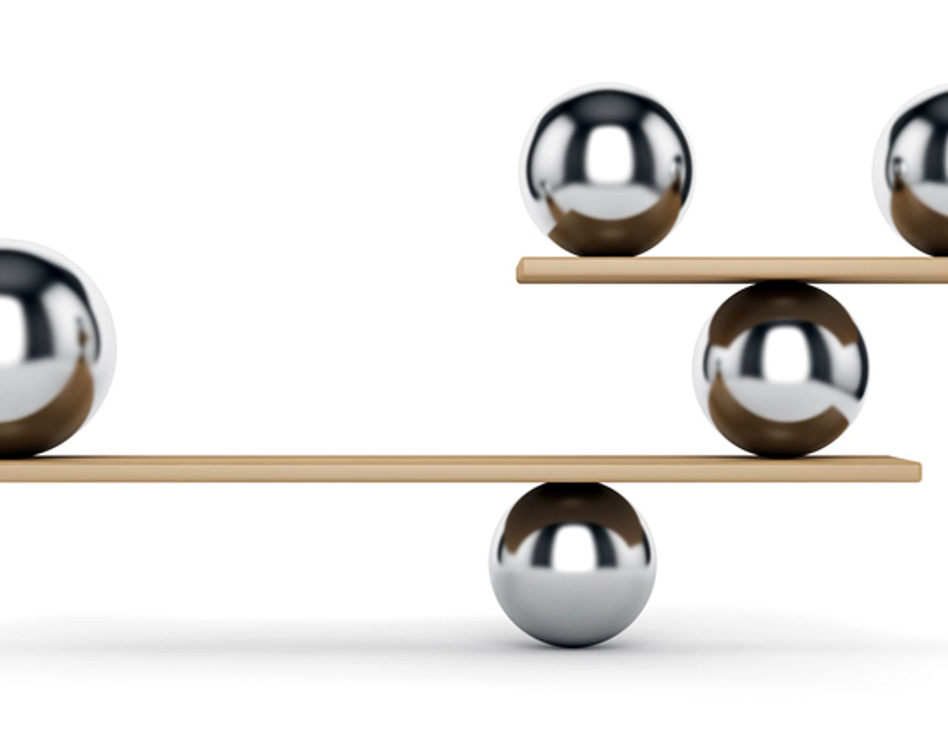 metal spheres on scale