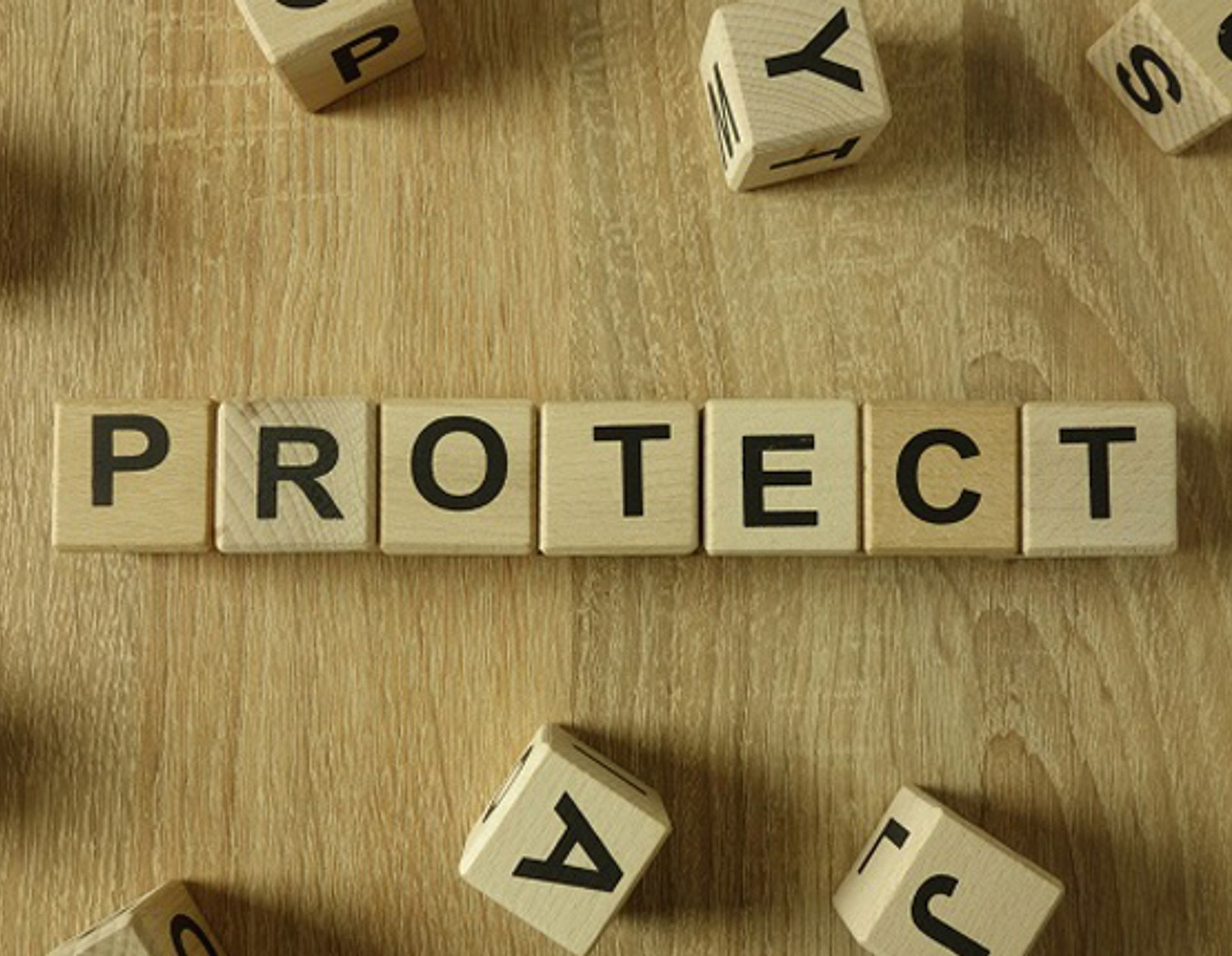 dice spelling out protect