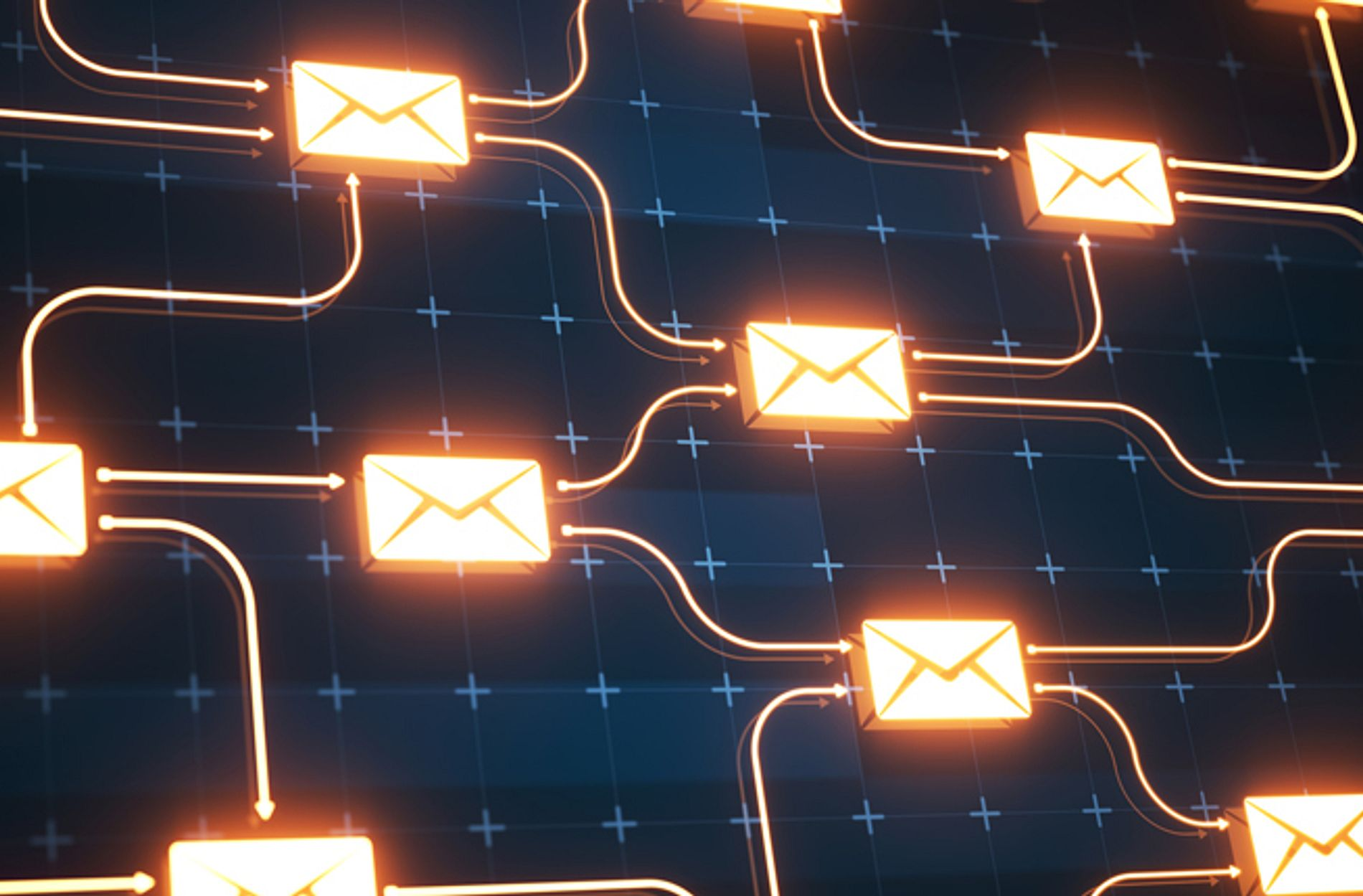 Email security connection on digital background