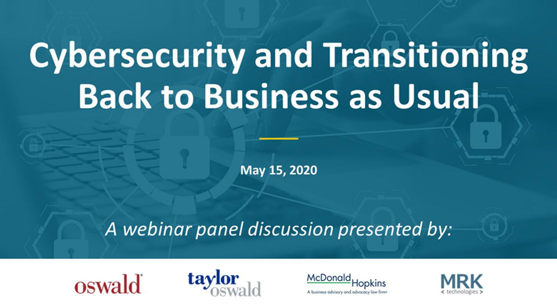 Cybersecurity May 15 Webinar