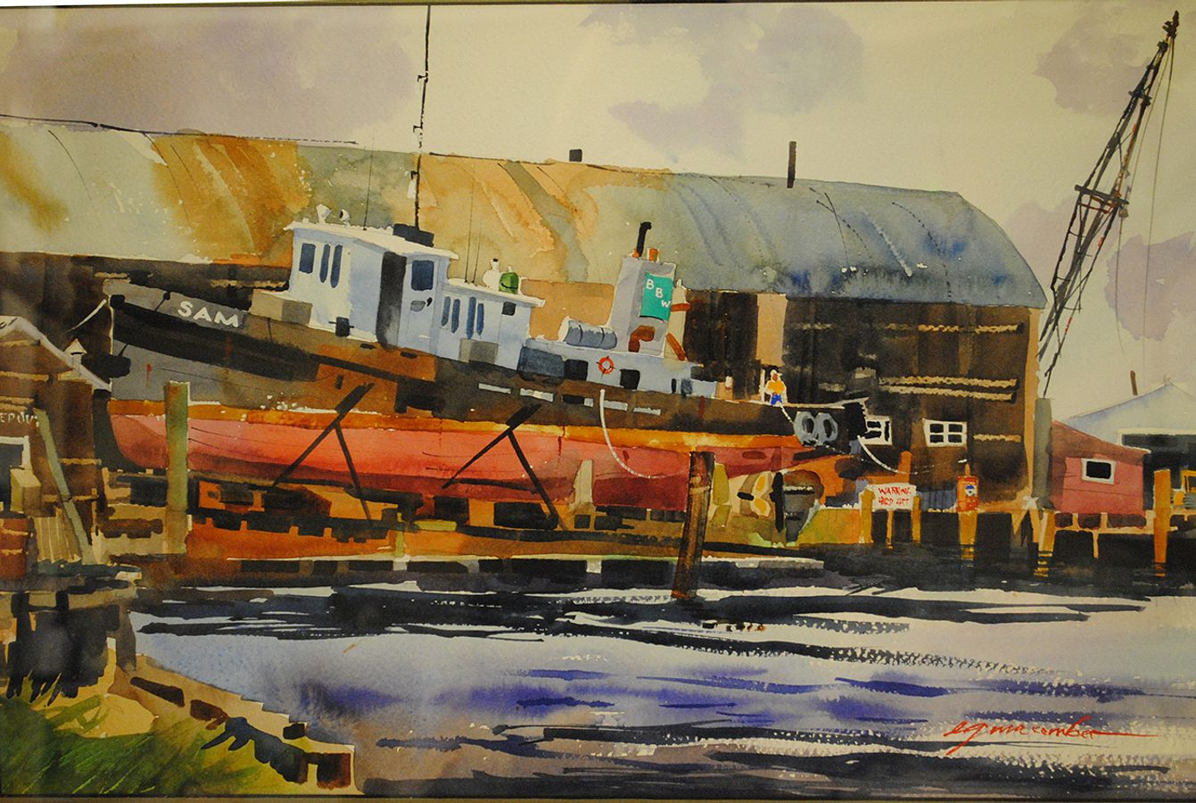 Barbour Boats Painting