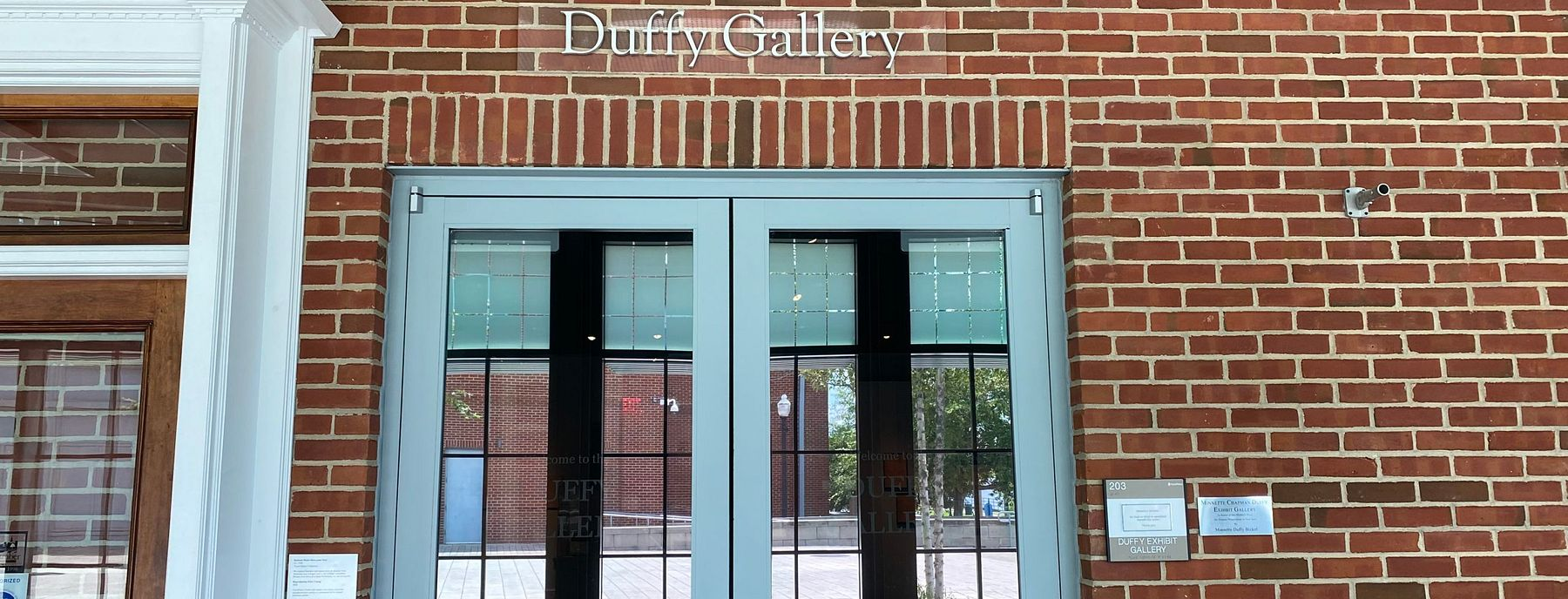 Entrance to the Duffy Gallery
