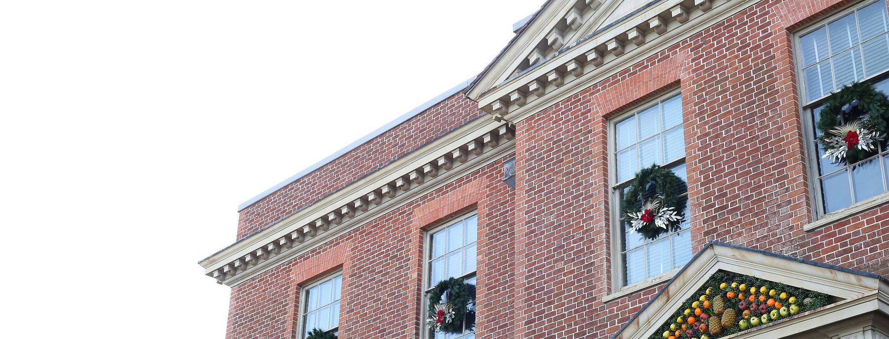Tryon Palace decorated for Christmas