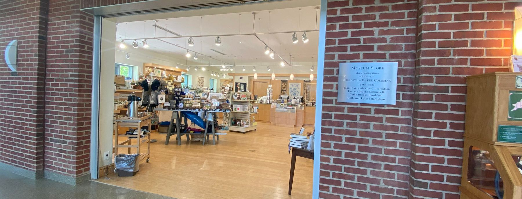 Tryon Palace Museum Store located in the North Carolina History Center